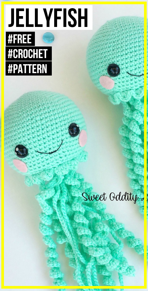 crochet Jellyfish free pattern