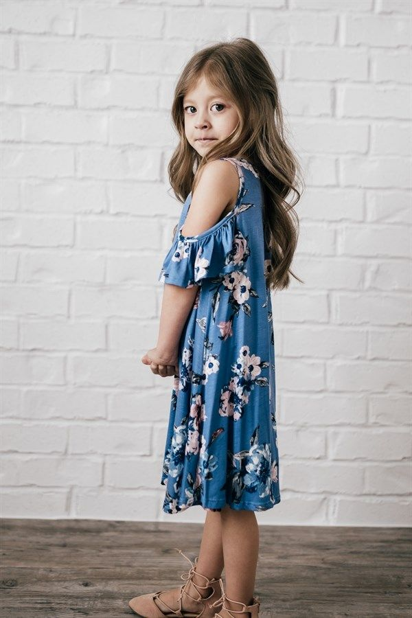 Floral Cold Shoulder Tunic Dress 5 Colors Dresses Tunic Dress Cute Outfits For Kids