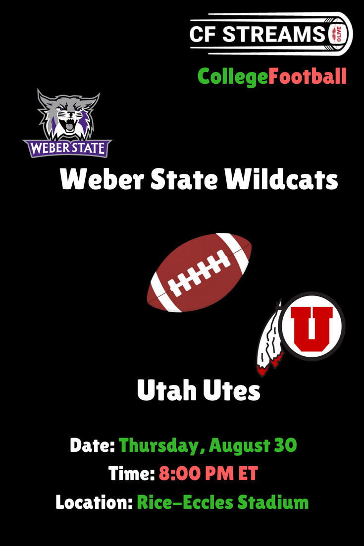 Weber State Wildcats vs Utah Utes College Football Live