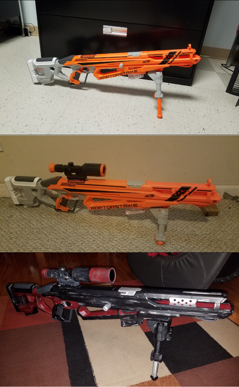 This chronicles my Nerf Raptorstrike project  I removed the