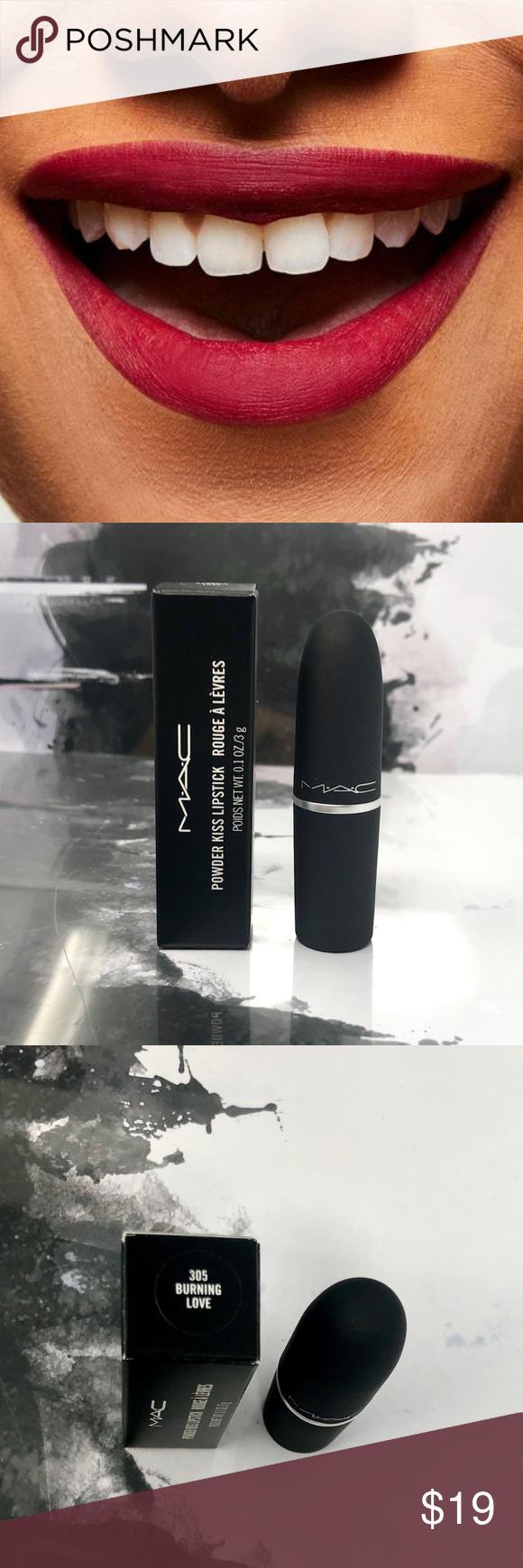 Photo of MAC Powder Kiss Lipstick Burning Love – NIB This item is new and unused – full s…
