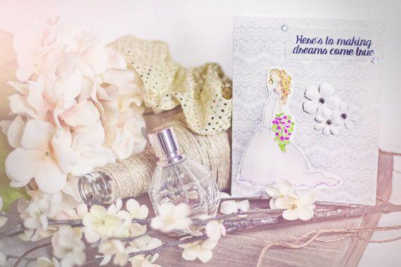 Beautiful Bride Wedding Card by HoosierHappyMail on Etsy