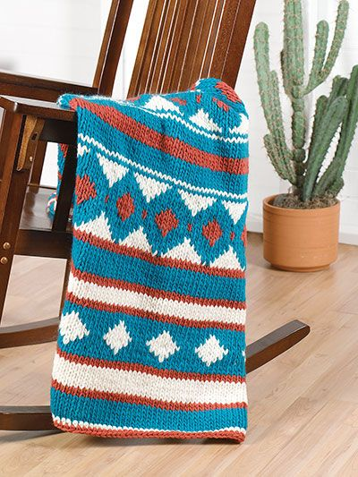 Knitting - Afghan & Throw Patterns - Assorted Patterns - Navajo ...