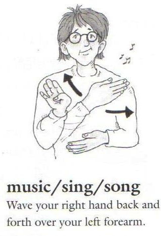 Sign: MUSIC (it can also be SING and SONG) Learn #