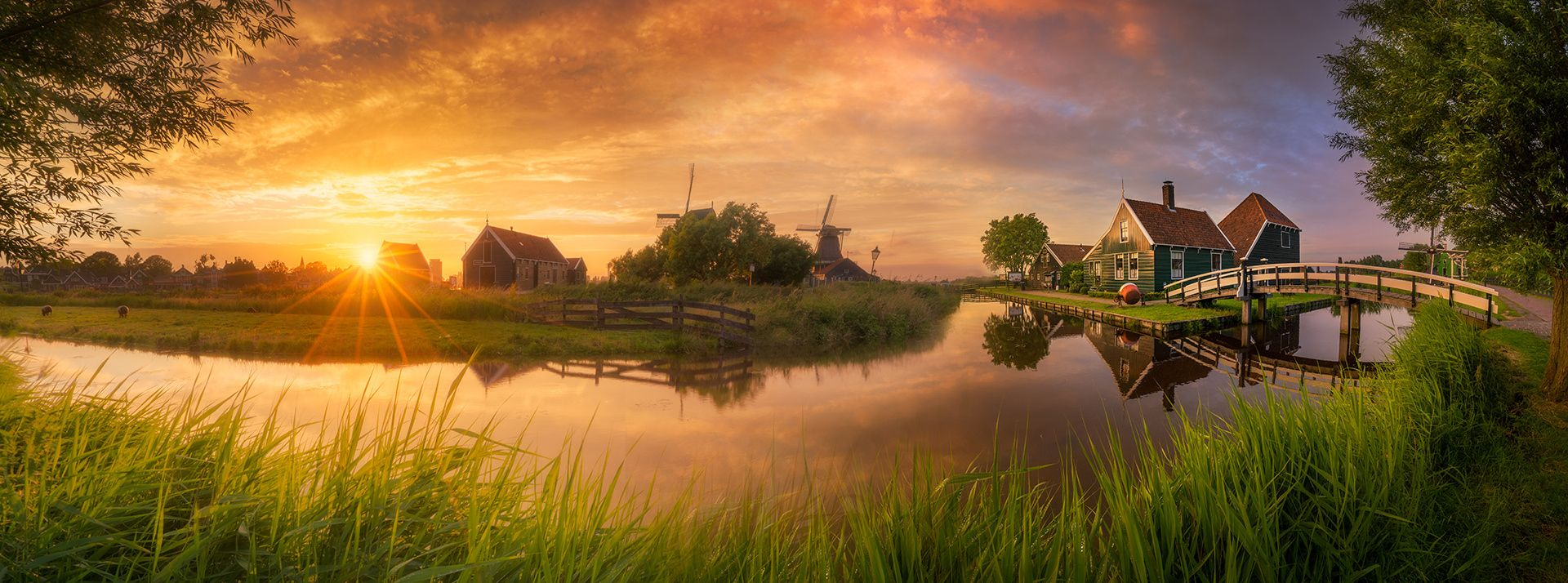 Fairytale - I almost never make wide panoramas, but I really liked this one :) Taken during a beautiful sunset in the Netherlands.