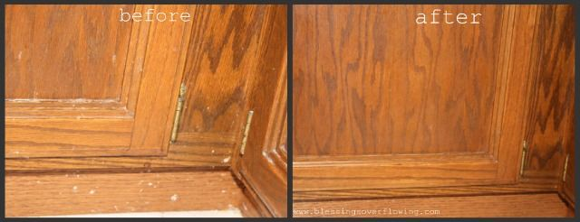 Clean Kitchen Days: Clean All Woodwork (+ Natural Wood Cleaner Recipe)