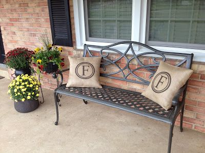 Two It Yourself: DIY Monogrammed Burlap Pillows