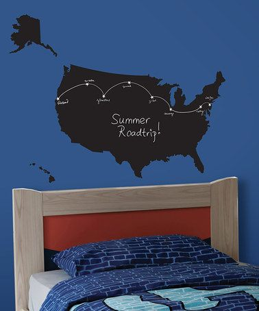 Take A Look At This USA Map Chalkboard Wall Decal By Lot Studio - Us map chalkboard