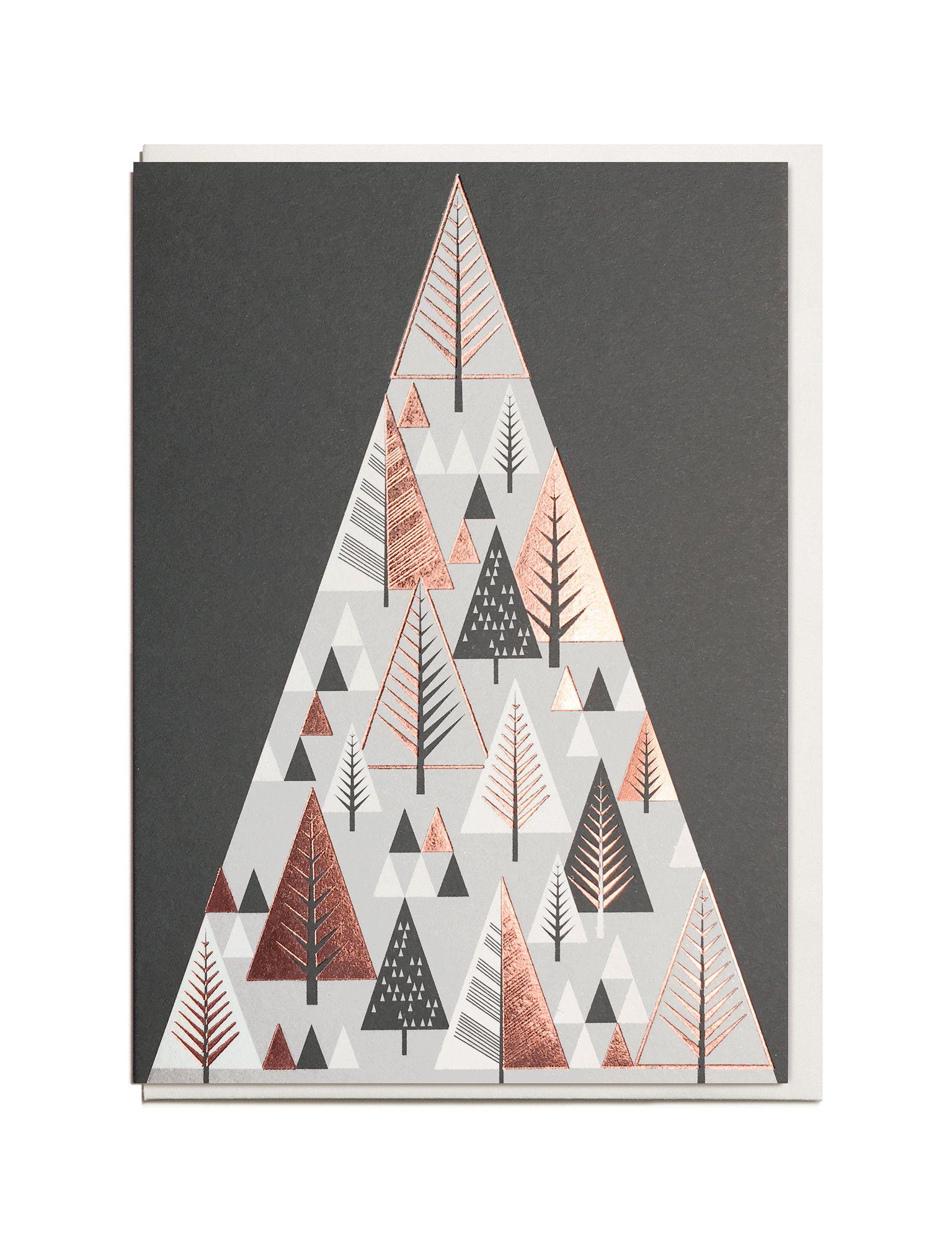 Foil Christmas Mountain A6 Greeting Card Christmas Pinterest