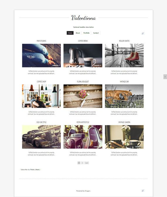 On Sale Blogger Template Grid Blog By Digitalbeautiful On Etsy