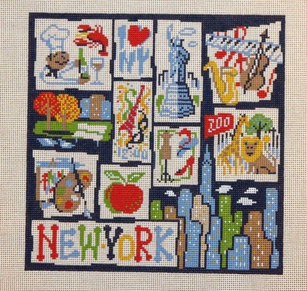 Needlework: Cross-stitch large paintings