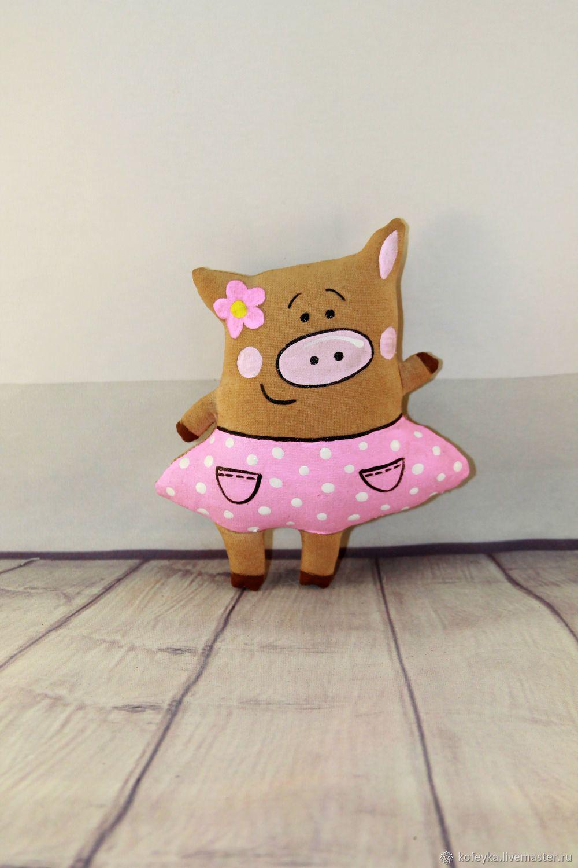 Ароматизированные куклы ручной работы. Ярмарка Мастеров - ручная работа.  Купить Кофейная свинка. Handmade. Игрушка, хрюшка, свинка, поросенок 7327ca9d503