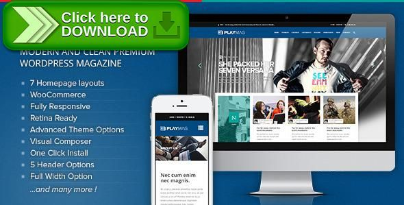 Free nulled PlayMag - Creative Magazine & Shop WordPress Theme ...