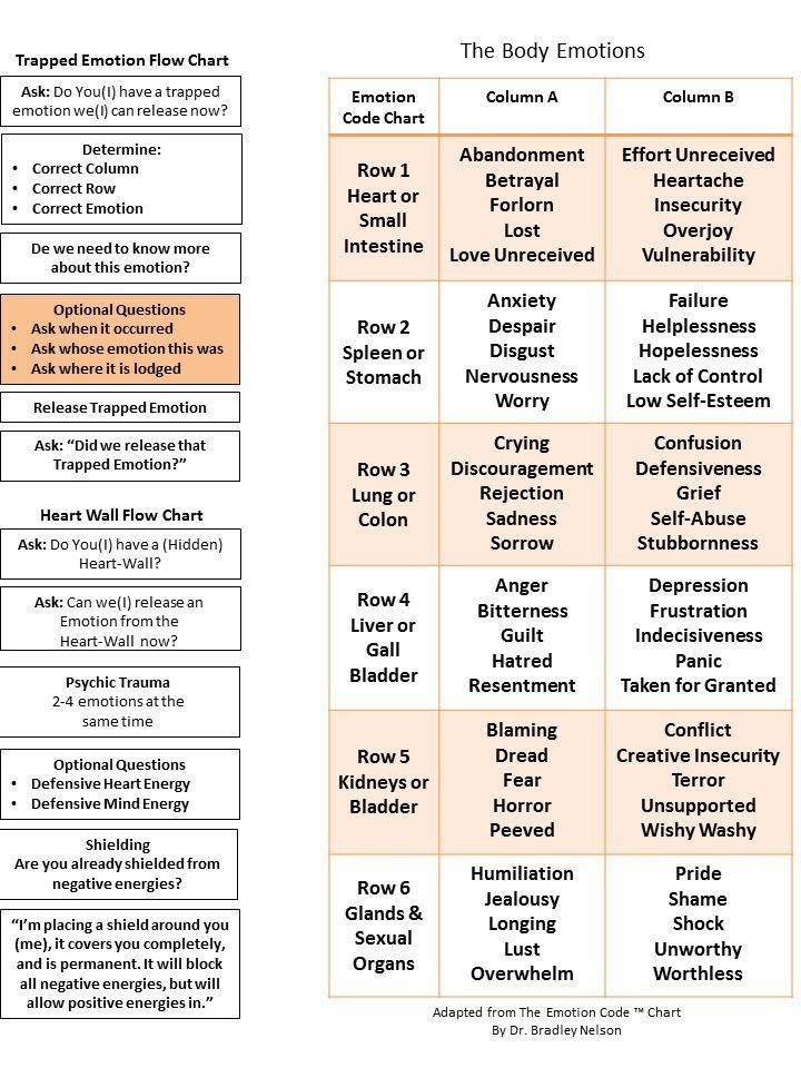 Body code chart pdf google search also emotion pinterest rh