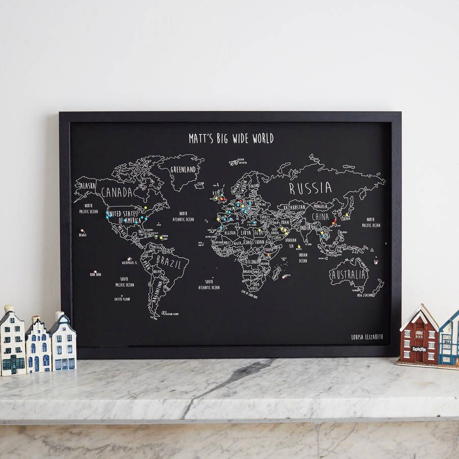Personalised world travel map with pins gumiabroncs