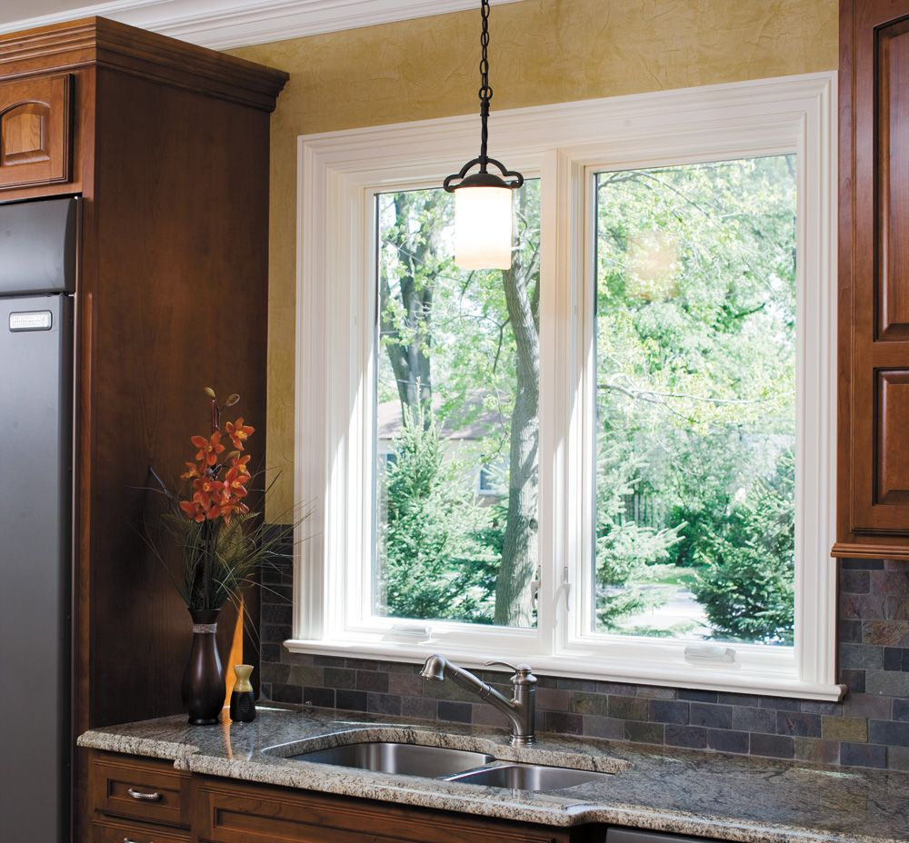 Interior casement window trim - Richly Finished Kitchen Pella Proline 450 Series Casement Windows Pella Photo Gallery
