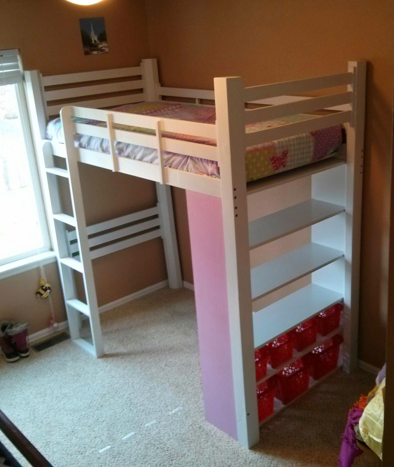Started with wood, ended with a loft bed. Diy loft bed