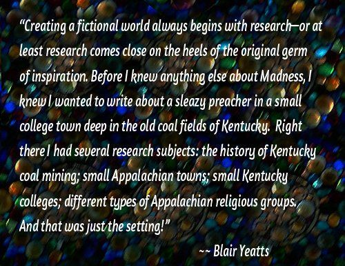 C.L. Francisco/Blair Yeatts on the role of research in her writing