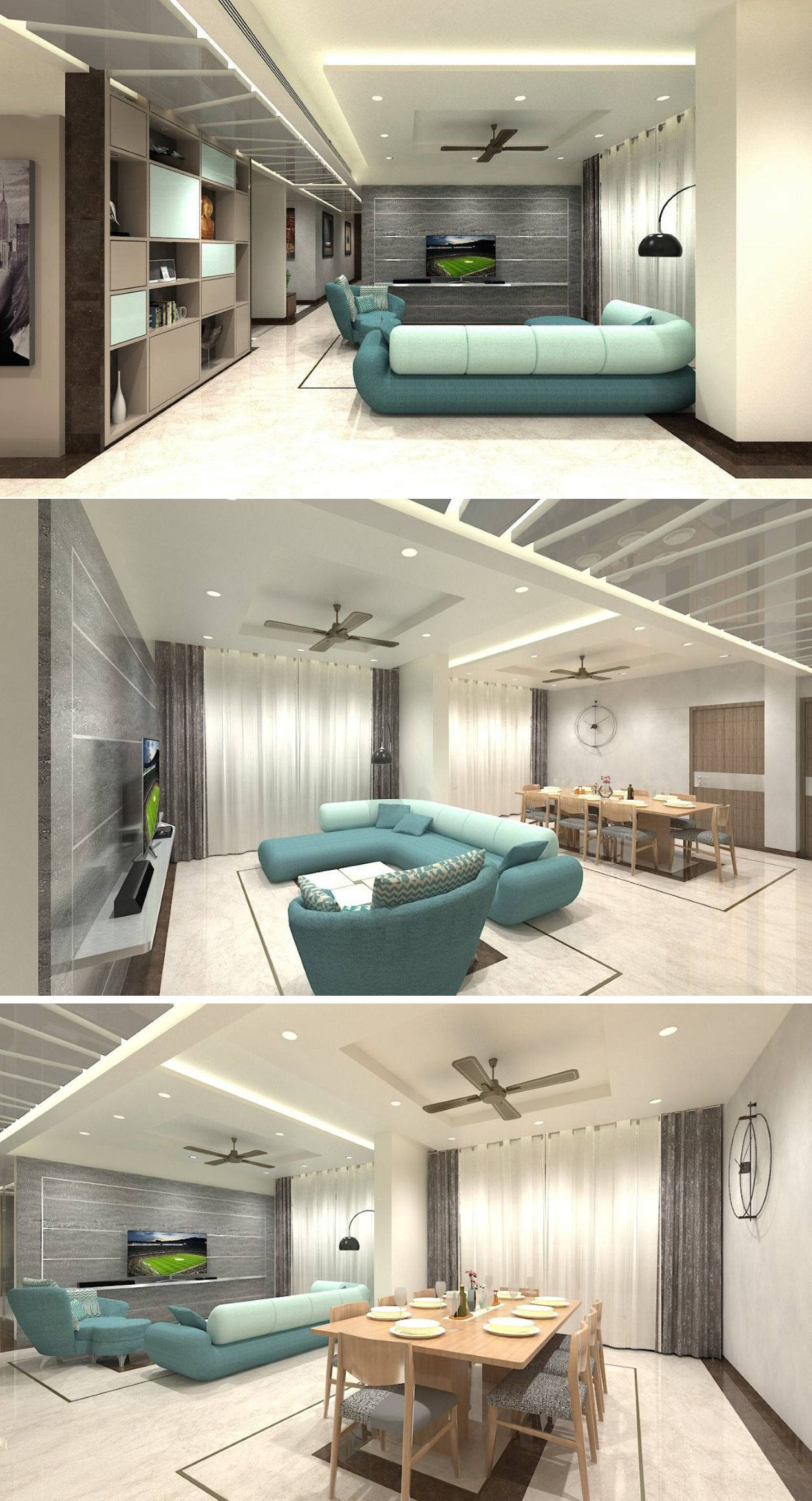 Lavish Apartment Interiors Apartment Interior Ceiling Design