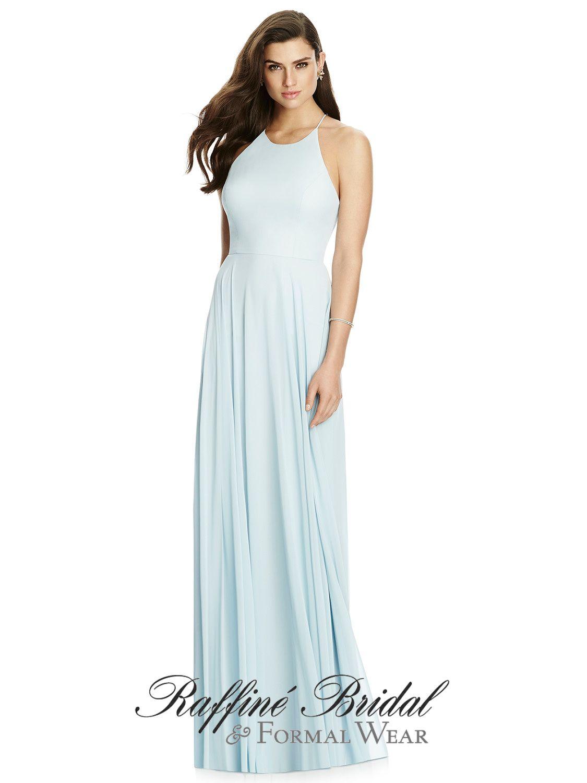 Dessy 2988 full length lux chiffon dress w halter neckline and dessy 2988 full length lux chiffon dress w halter neckline and criss cross ombrellifo Images