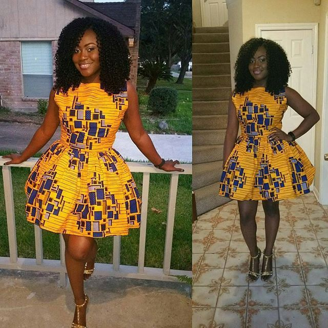 Latest Ankara Short Gowns For June 2018