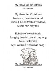 my hawaiian christmas poem winter holidays 2nd grade poetry journal december preschool. Black Bedroom Furniture Sets. Home Design Ideas