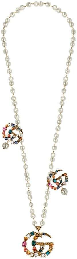 61d00e0c6c3 Crystal Double G necklace - Gucci Necklace