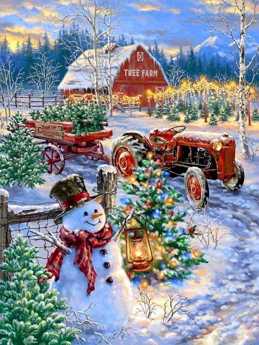 Puzzles Christmas scenes, Christmas paintings, Christmas