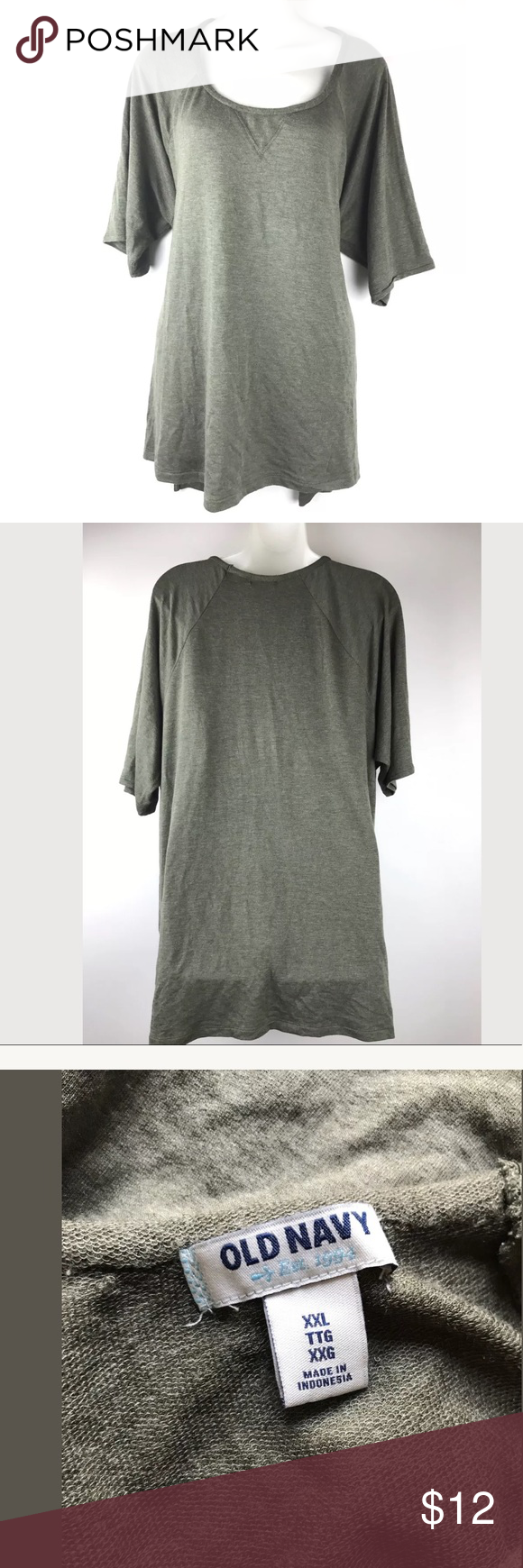 Old navy short sleeve top olive green plus size x navy short