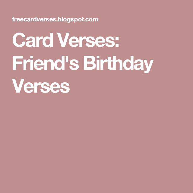 Card Verses Friends Birthday Verses Card Tutorials Pinterest