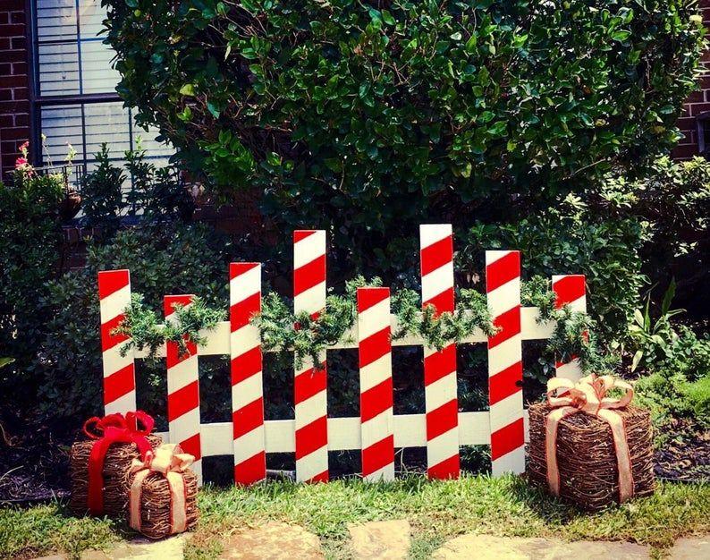 Christmas Picket Fence   Etsy