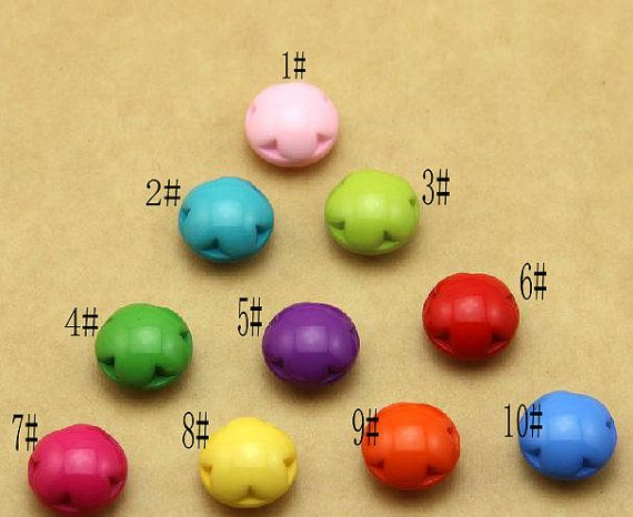 6 pcs 0.59 inch Candy color Plum Resin Shank Buttons for by FeiYa