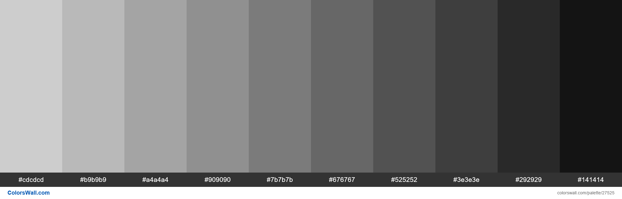 Shades of Very Light Grey color #CDCDCD hex in 2020 | Hex ...