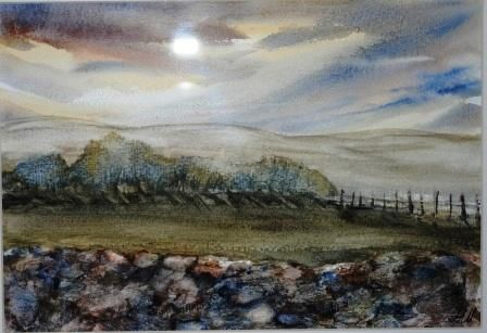 Watercolor Paintings Dry Stone Walls