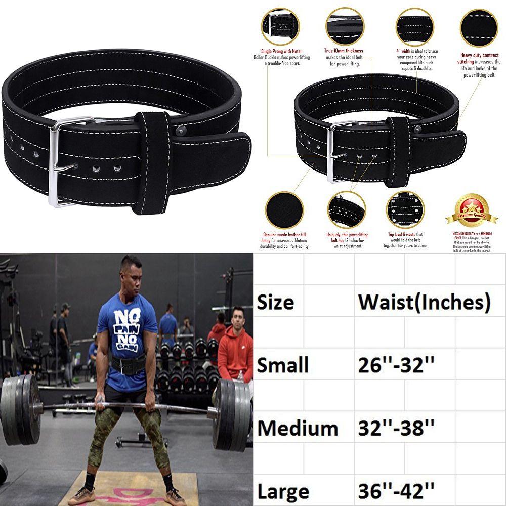 Hawk Single Prong Power Lifting Belt Men /& Women LARGE