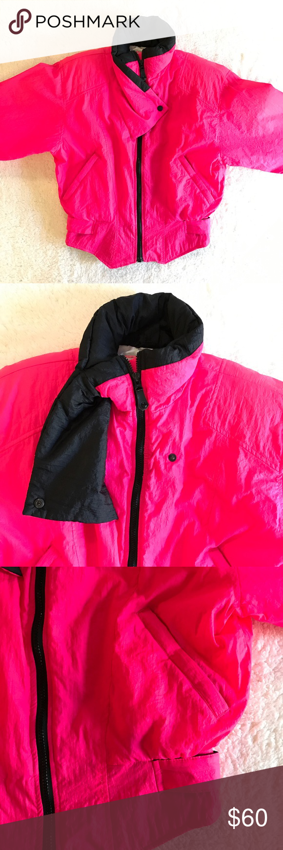 195e58c01d Shocking Pink with Black Detail   Zippers. No Flaws. 100% Nylon Shell 100%  Polyester Lining. Obermeyer Jackets   Coats. 90 s Vintage Obermeyer Ski  Jacket ...