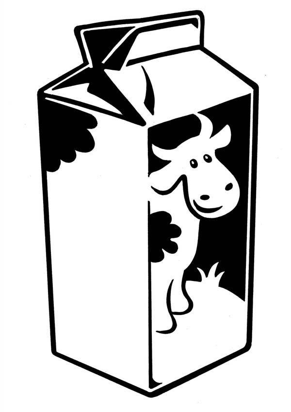 Milk-Carton-with-Cow-Picture-Coloring-Page.jpg (600×849) | Preschool ...