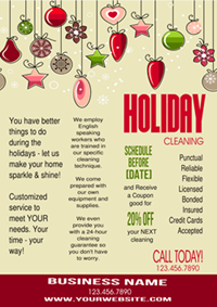 holiday cleaning business flyer