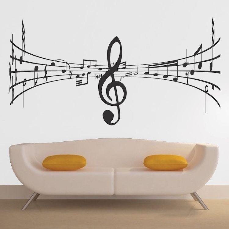 Music Symbol Wall Decal Music Wall Decal Music Wall Music Wall