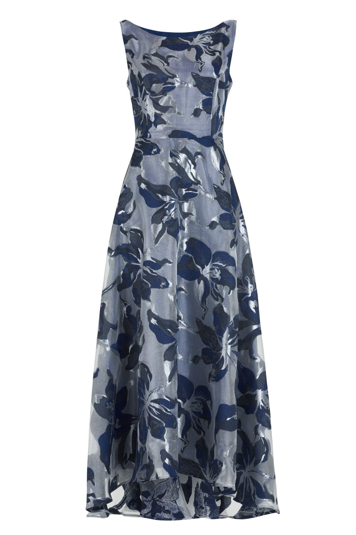 Langes Organza Kleid mit Blütenprint  Festliches kleid, Kleider