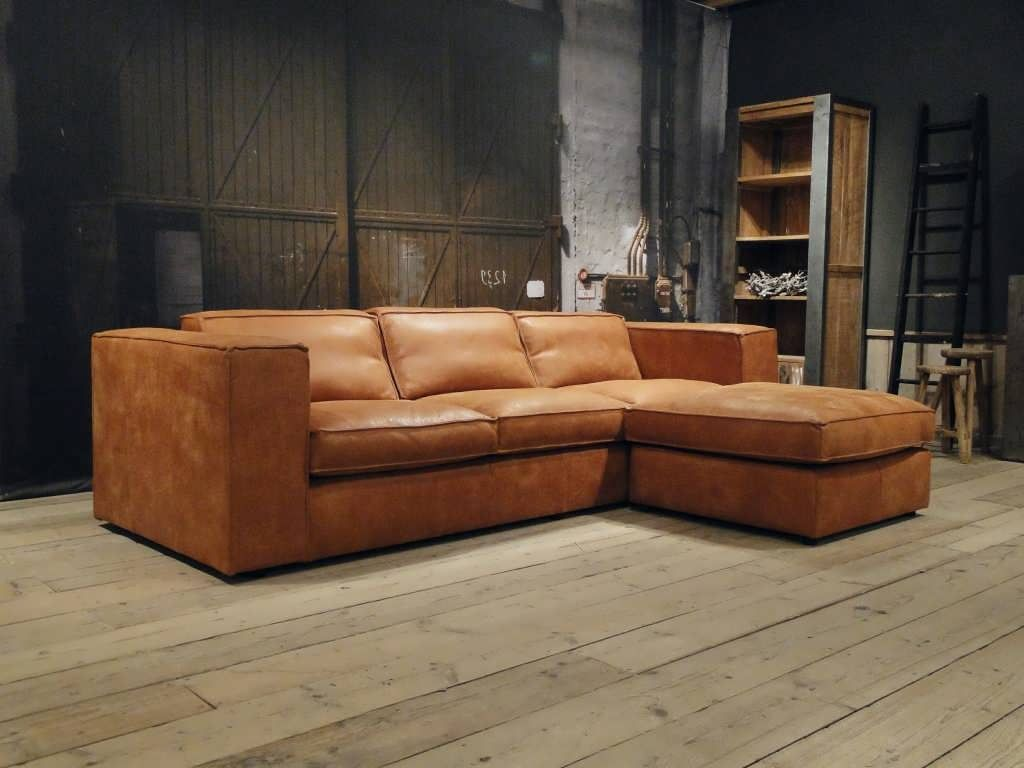 Bank Chaise Lounge Leren Bank Palagano Leverbaar In Leer En Stof