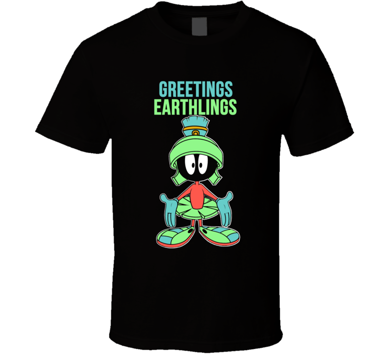 Marvin Martian Greetings Earthlings T Shirt