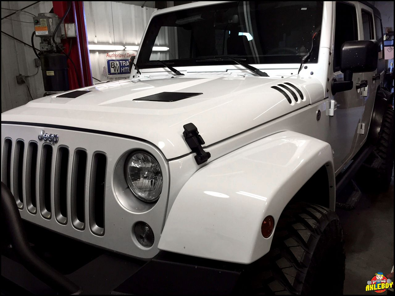 Just Installed A Performance Vented Hood On This 2016 Jeep Wrangler Install Jk Snorkel