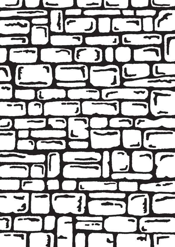 Embossed White Card Steampunk Brick Wall Brick Wall