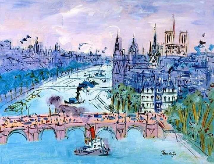 Pont Neuf Raoul Dufy Paris Painting Watercolour Inspiration