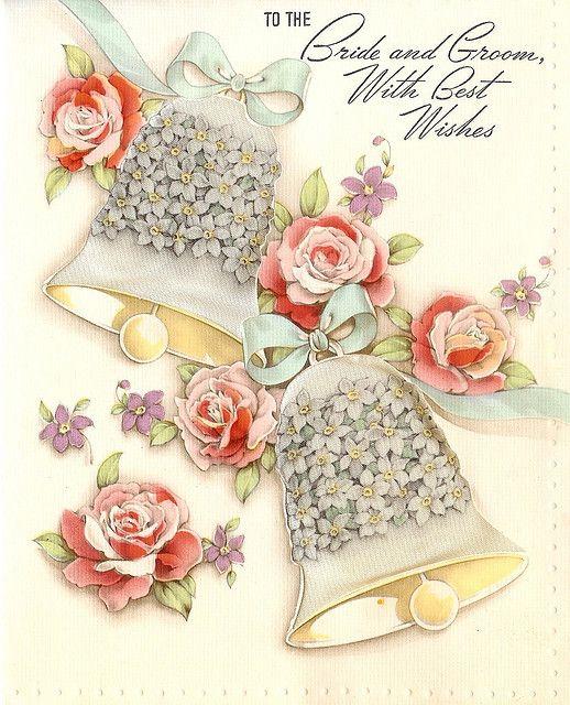 Floral Wedding Bells Vintage Wedding Cards Wedding Bells Clip Art Wedding Cards