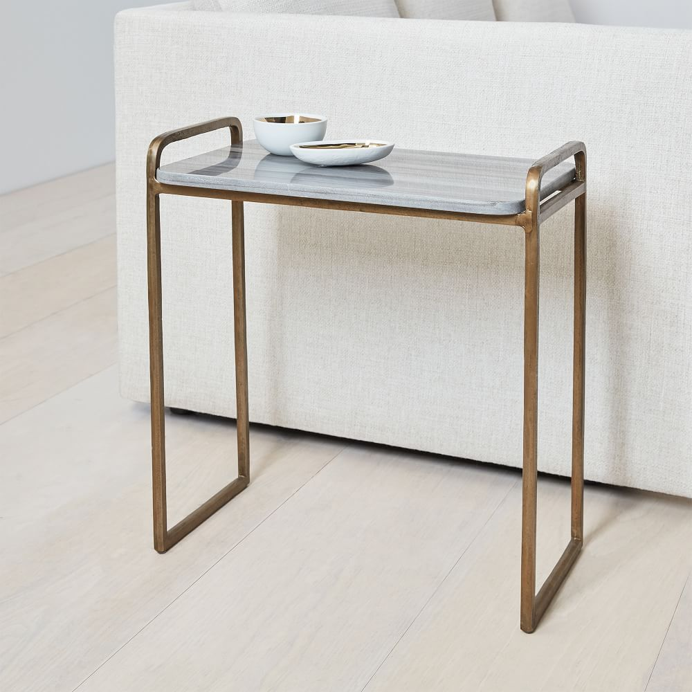 west elm marble coffee table review