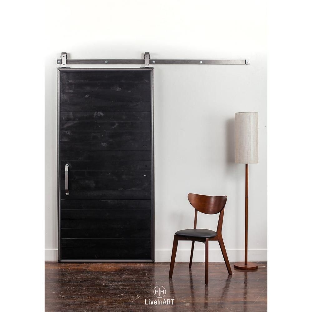 Rustica Hardware 42 In X 84 In Mountain Modern Matte Black Wood