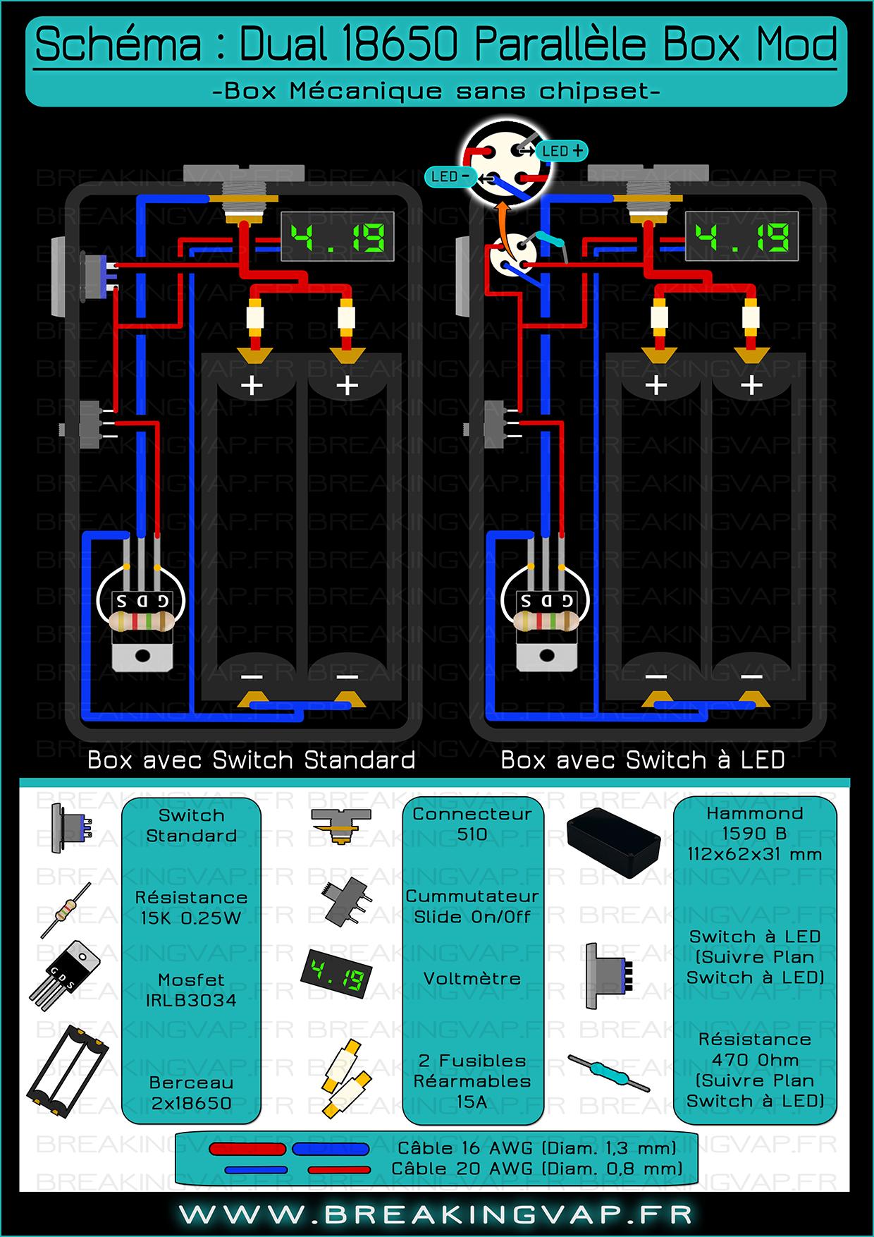 medium resolution of sch ma box mod dual 18650 parallele vapeboxmods