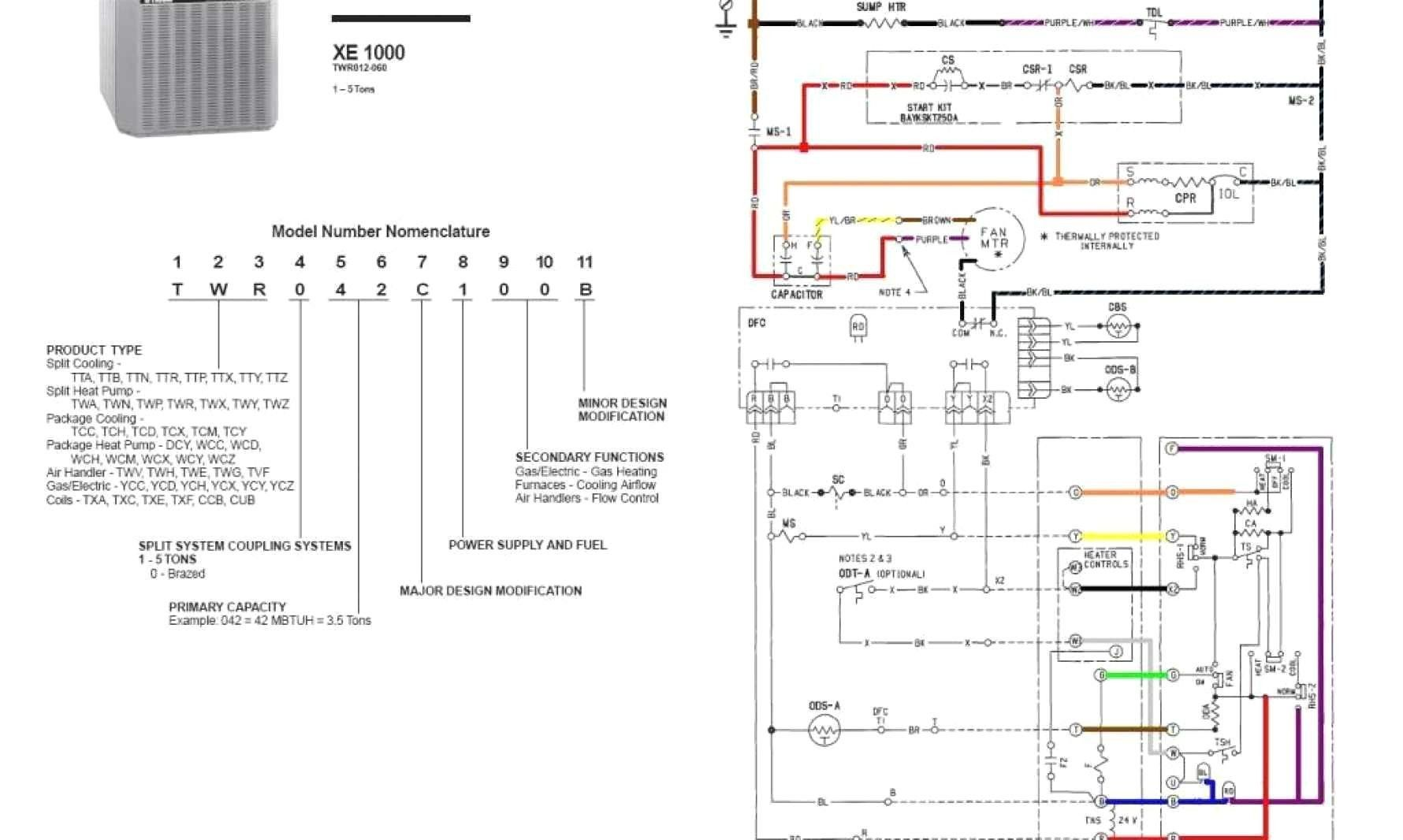 Trane Thermostat Wiring Diagram Luxury Wiring Diagram For